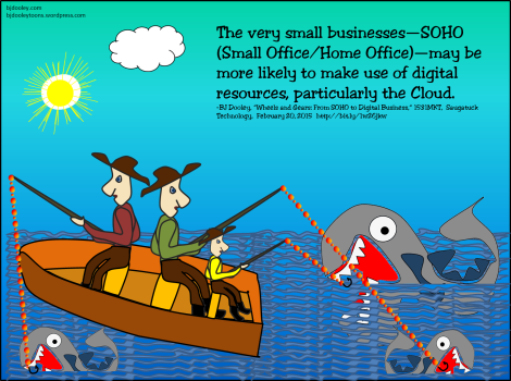 The very small businesses—SOHO (Small Office/Home Office)—may be more likely to make use of digital resources, particularly the Cloud.