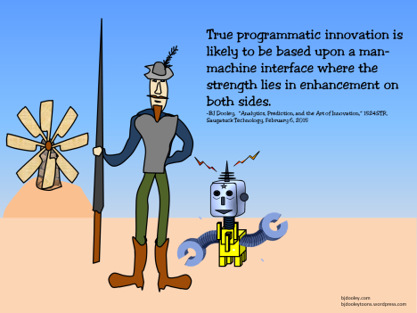 True programmatic innovation is likely to be based upon a man-machine interface where the strength lies in enhancement on both sides.